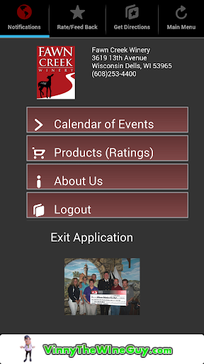 Fawn Creek Winery Mobile App