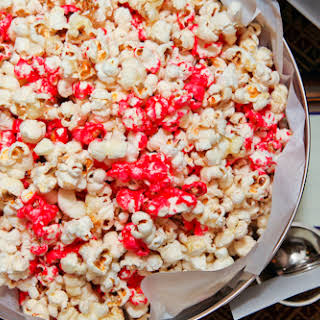 Peppermint Candied Popcorn.