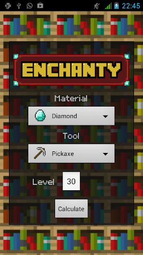 Enchanty - Minecraft EnchCalc