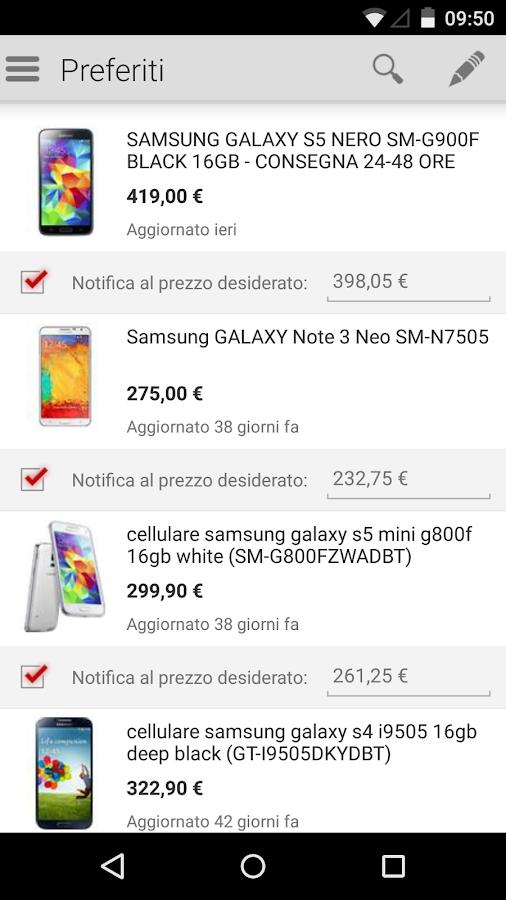 TrovaPrezzi prezzi e shopping - screenshot