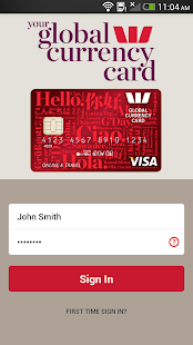 Westpac Global Currency Card- screenshot thumbnail
