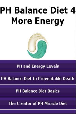 PH Balance Diet 4 More Energy