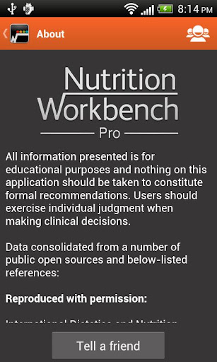 Nutrition Workbench PRO