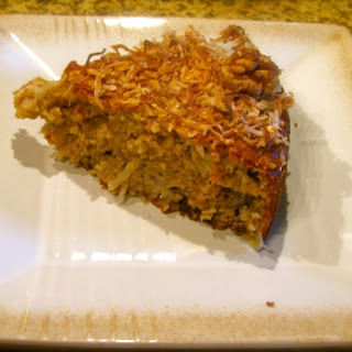 Gluten-Free Coconut Banana Cake with Walnuts.