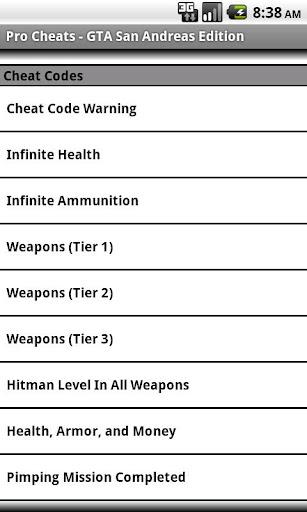 Pro Cheats:GTA SA Unofficial