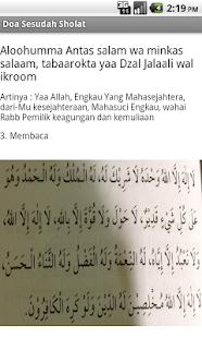 Doa Sesudah Sholat- screenshot thumbnail