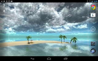 Screenshot of Maldives 3D LWP, True Weather