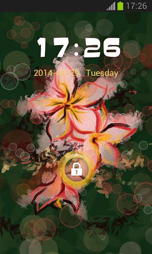 ロック電話アジアの花