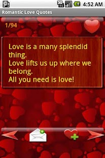 Romantic Love Quotes - screenshot thumbnail