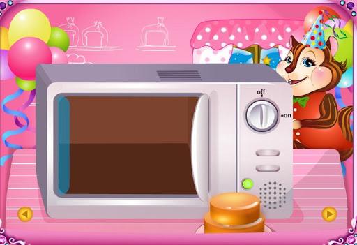 製作和裝飾的可愛蛋糕