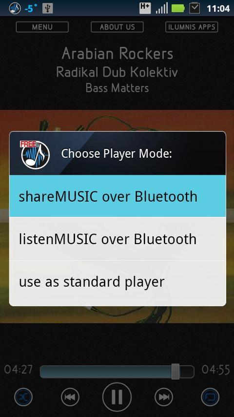 Bluetooth Music Player Free - screenshot
