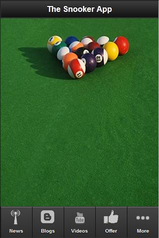 The Snooker App- screenshot