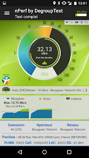 Speed Test Débit & QoS 4G WiFi – Vignette de la capture d'écran