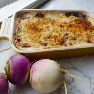 The Art of Eating's Turnip Gratin .