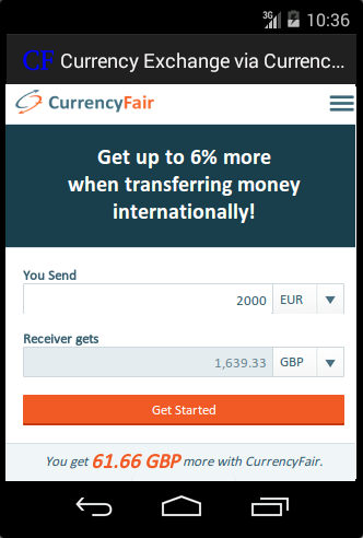 Currency Exchange CurrencyFair