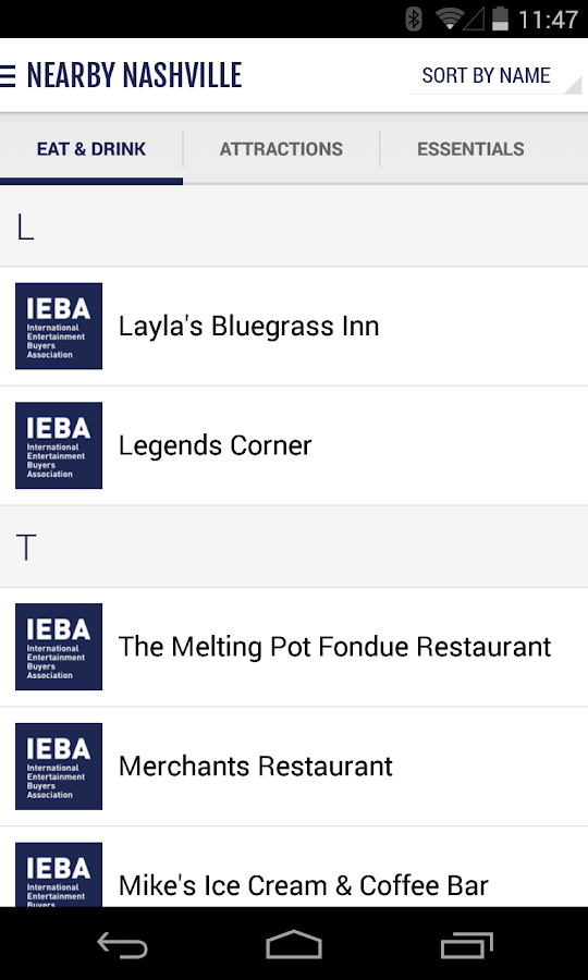 IEBA - screenshot