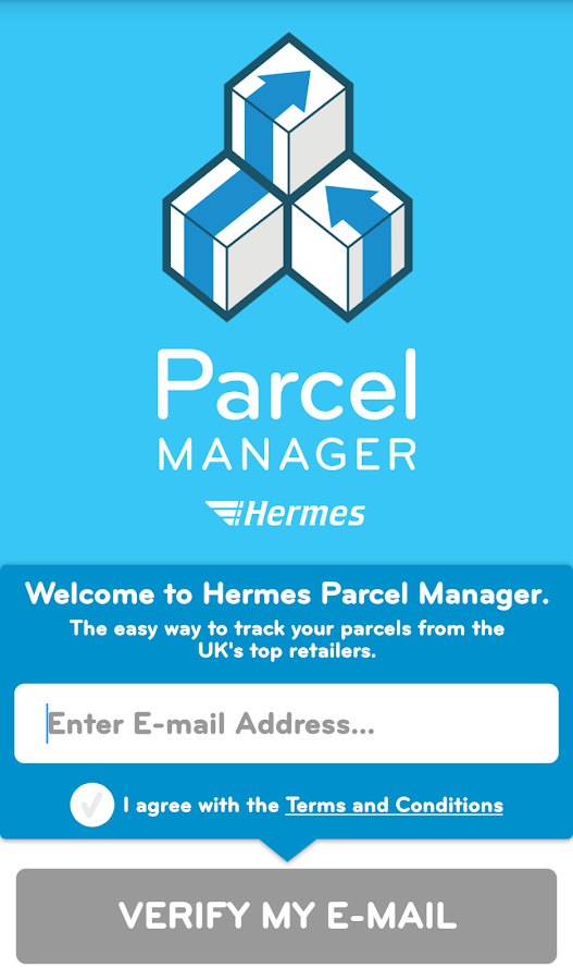 Hermes Parcel Manager- screenshot