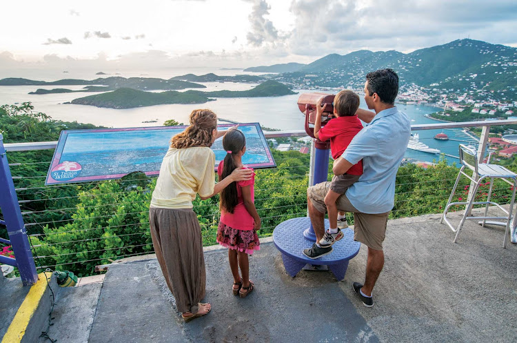 Take a scenic tram to the top of Paradise Point on St. Thomas to enjoy spectacular views, food and local drinks.