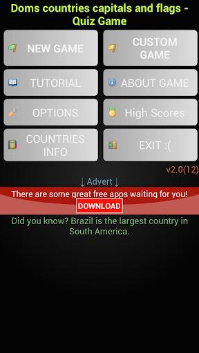 Doms 국가 자본 세계의 국기. 게임을 퀴즈