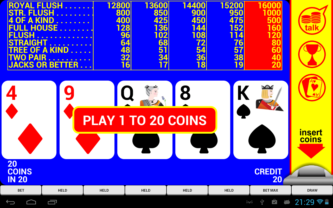 Video Poker with Double Up - screenshot