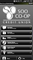 Screenshot of Soo Co-op Mobile Banking