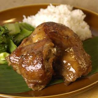 Sauteed Mustard Greens for Chicken Adobo.