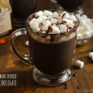Bourbon Spiked Hot Chocolate.