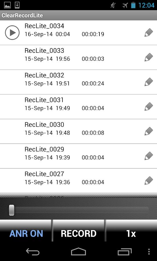 ClearRecordLite - screenshot