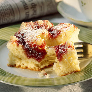 Raspberry-Cheese Coffee Cake.