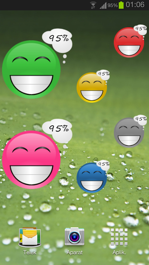 Smiley Battery Pro Widget- screenshot