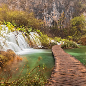 by Stephen Bridger - Landscapes Waterscapes ( plitvice, national park )
