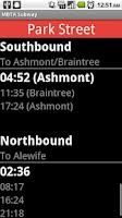 Screenshot of MBTA Subway Watch Boston