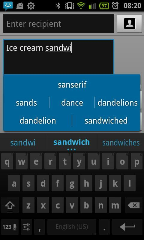 Bulgarian for ICS keyboard - screenshot