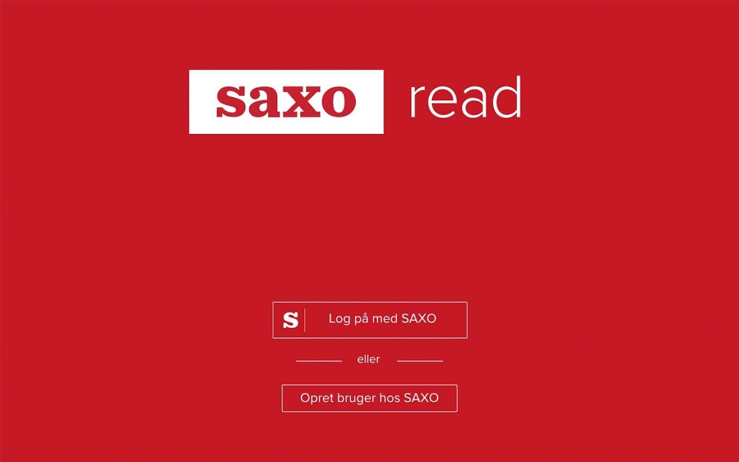 Saxo Read- screenshot