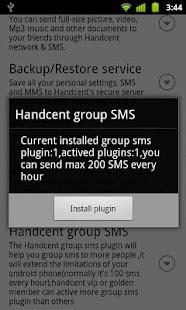 Handcent GroupSMS plugin 8- screenshot thumbnail