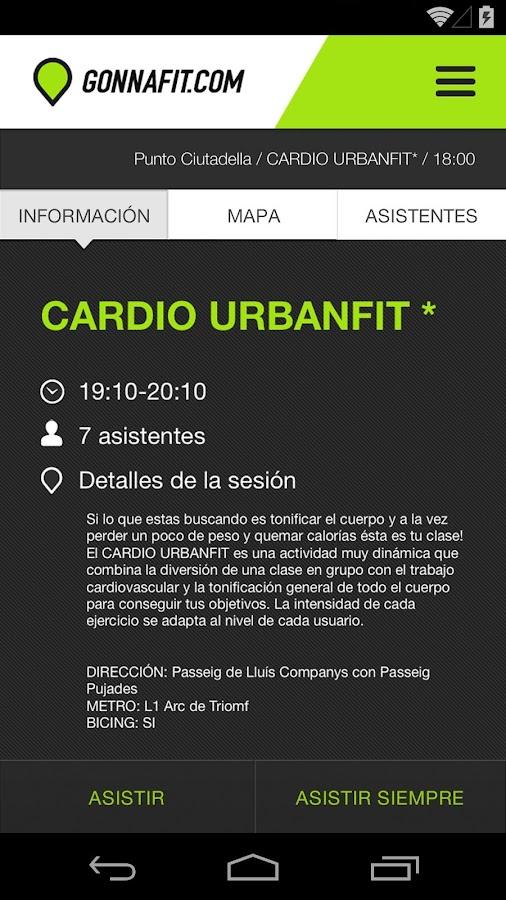 urbanfit mapa de aulas Gonnafit – Aplicações Android no Google Play urbanfit mapa de aulas