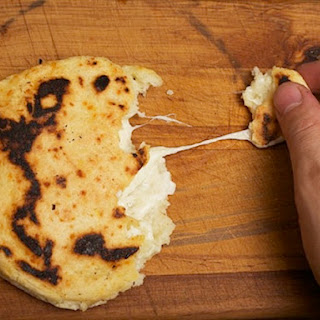 Cheese-Stuffed Colombian-style Arepas.