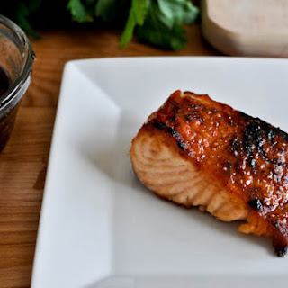 Bourbon Glazed Salmon.