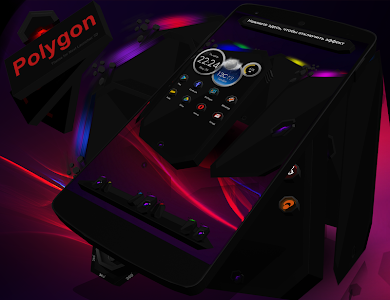 Next Launcher Theme Polygon 3D v1.5.1