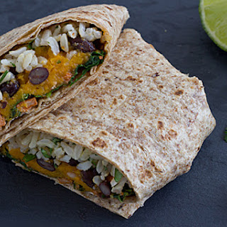 Sweet Potato & Kale Wraps