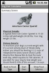 Dog Diet Calculator