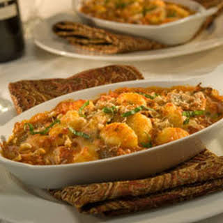 Baked Gnocchi With Two Cheeses & Walnuts.