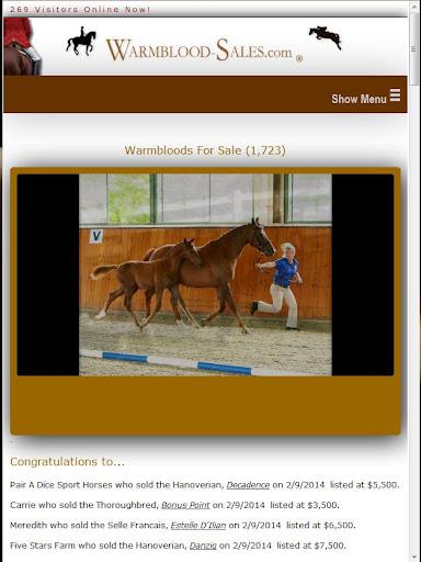 Warmblood-Sales.com Since 1999