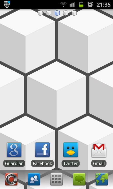 Cube HD Go Launcher Theme - screenshot