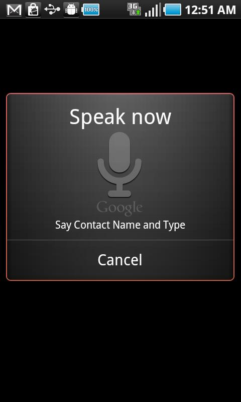 CGX Voice Dialer- screenshot