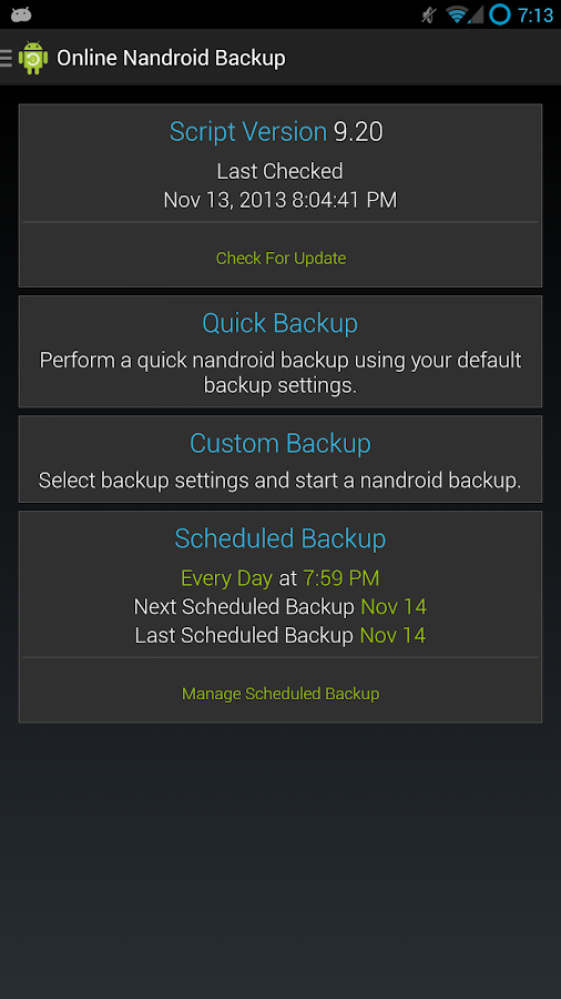 Online Nandroid Backup * ROOT - screenshot