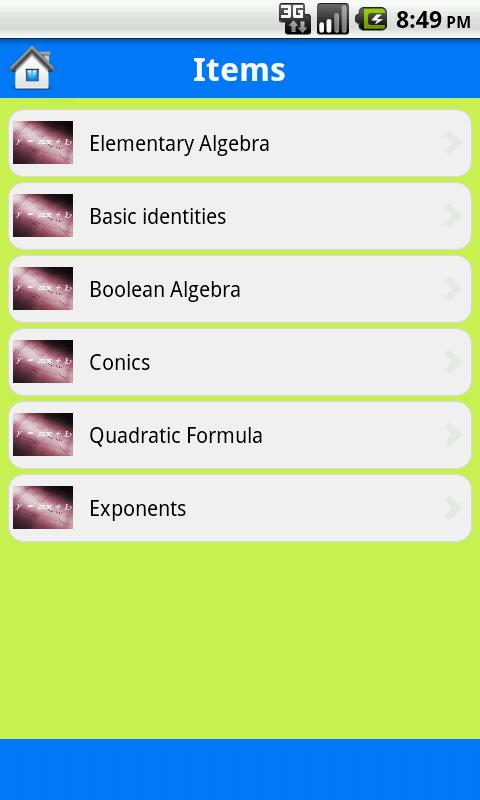 Algebra Geometry Formulas - screenshot