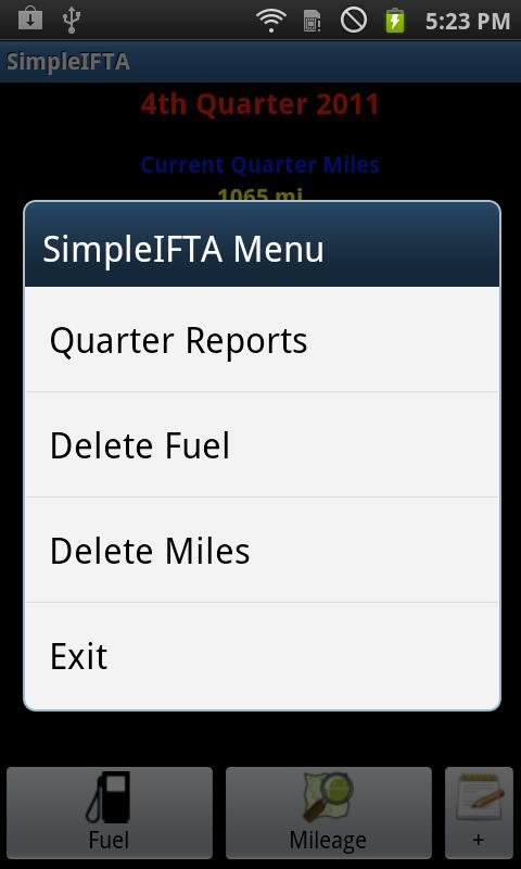 SimpleIFTA Trucking IFTA Log - screenshot