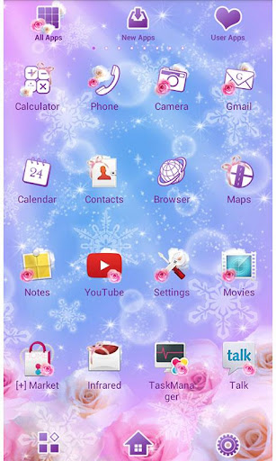Winter Heart Wallpaper Theme 1.1 Windows u7528 2