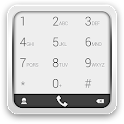 exDialer KitKat Gray theme icon